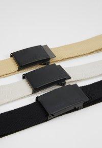 Urban Classics - BELT 3 PACK - Belt - black/sand/beige - 5