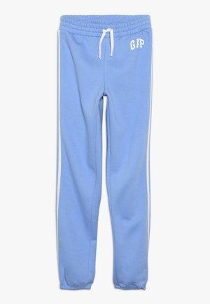 GIRL LOGO JOGGER - Tracksuit bottoms - moore blue