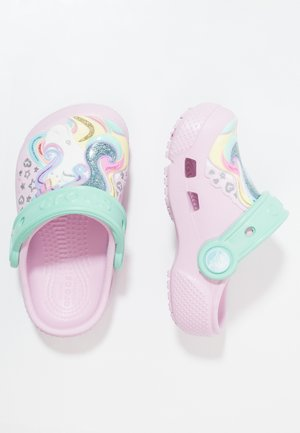 FUN LAB CLOG - Pool slides - pink/new mint