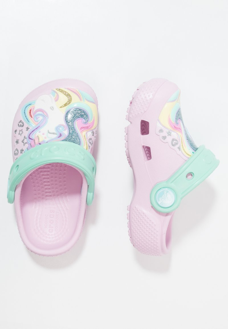 Crocs - FUN LAB CLOG - Pool slides - pink/new mint