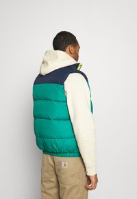 Tommy Jeans - CORP VEST - Waistcoat - midwest green/multi - 2