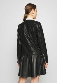 DKNY - MOTO JACKET - Faux leather jacket - black - 2