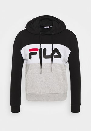 LORI HOODIE  - Hoodie - black/light grey melange/bright white