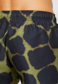 Topman - GIRAFFE SWIM - Shorts da mare - khaki/black - 1