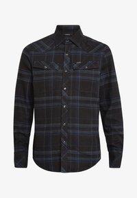 G-Star - 3301 SLIM LONG SLEEVE CHECK - Overhemd - pitch black yoko check - 4