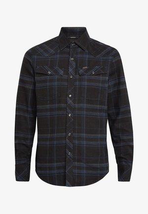 3301 SLIM LONG SLEEVE CHECK - Overhemd - pitch black yoko check