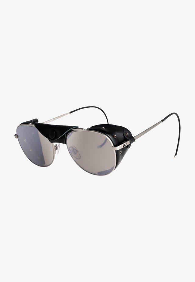 Zonnebril - matte silver black leather fl