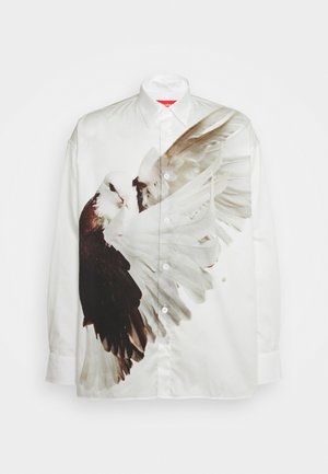 ILLUSION BIRD ETHRIDGE UNISEX - Button-down blouse - white/brown/offwhite