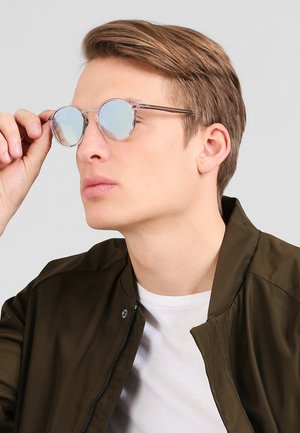 Sunglasses - trasparent / brown gradient mirror silver