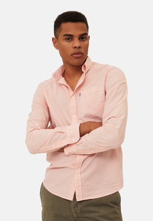 Shirt - orange/white stripe