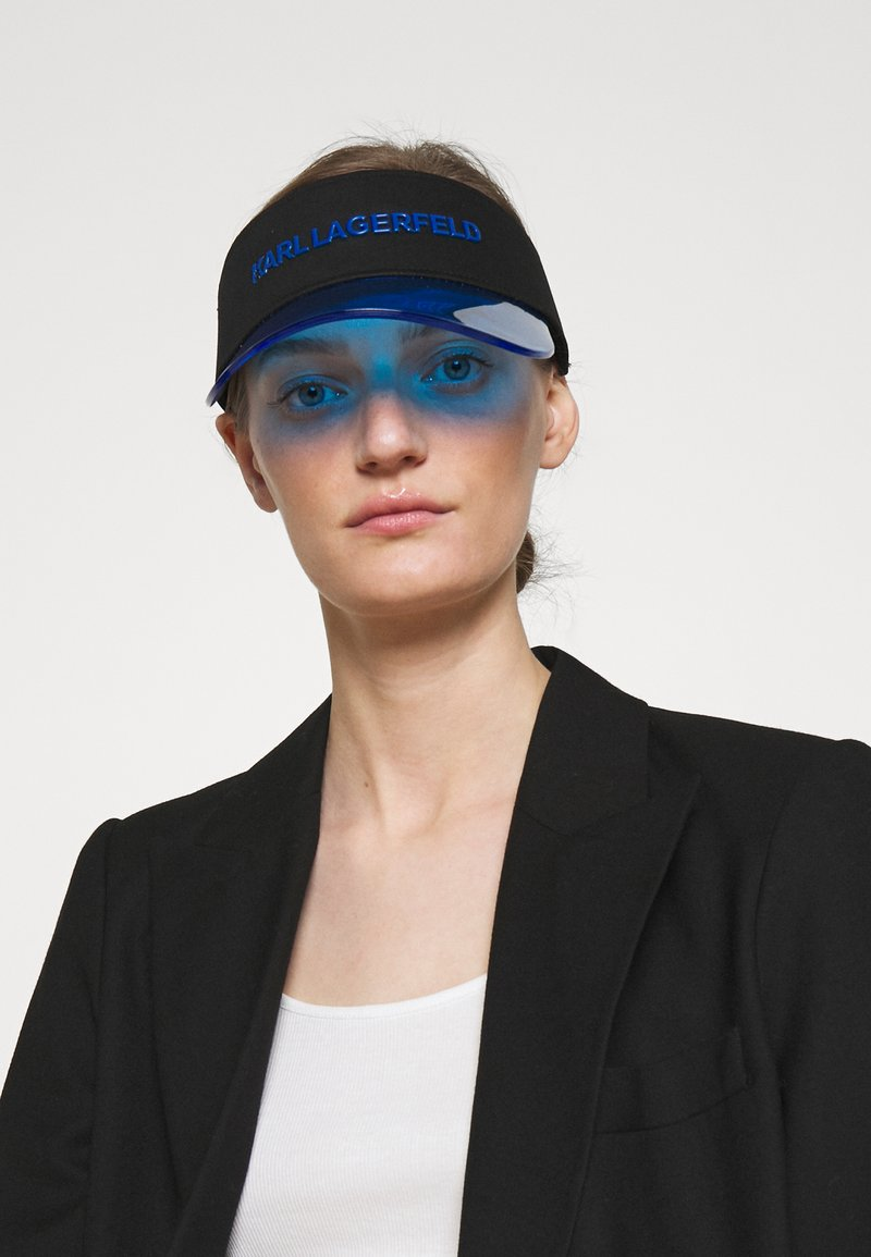 KARL LAGERFELD - BOX LOGO VISOR - Cap - blue