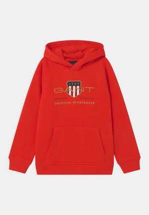 ARCHIVE SHIELD HOODIE UNISEX - Sweatshirt - lava red
