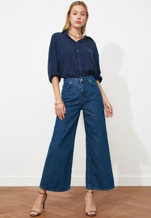 Flared Jeans - navy blue