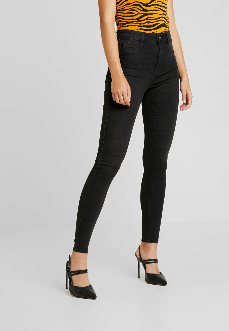 Gina Tricot - HIGHWAIST - Jeans Skinny Fit - off black
