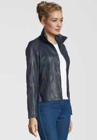 7eleven - LEA - Leather jacket - navy - 2