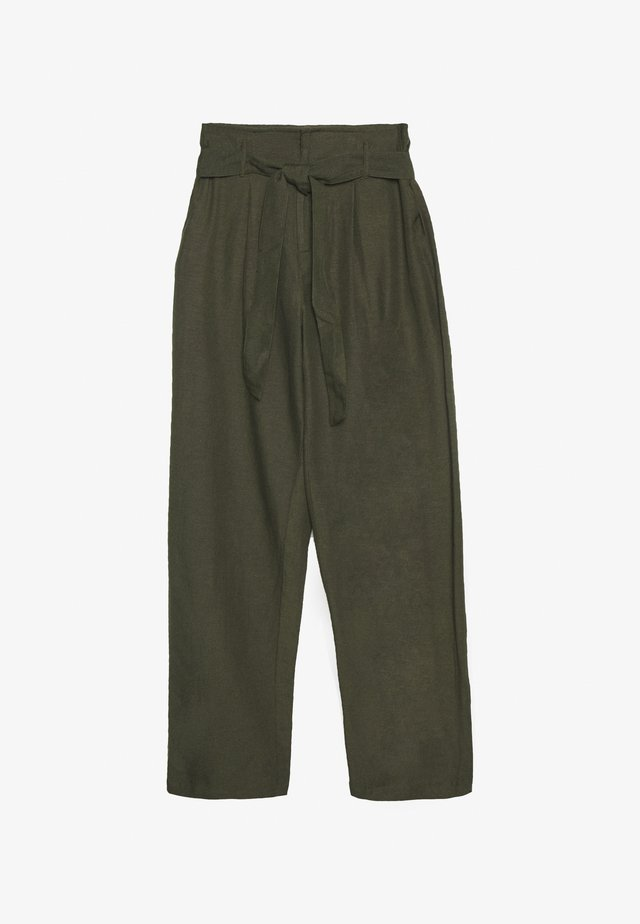 ONLVIVA LIFE BELT PANT - Pantalones - forest night
