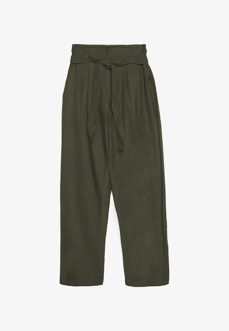 ONLY - ONLVIVA LIFE BELT PANT - Trousers - forest night
