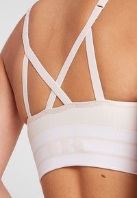 Under Armour - SEAMLESS LONGLINE BRA - Urheiluliivit - apex pink/white - 3