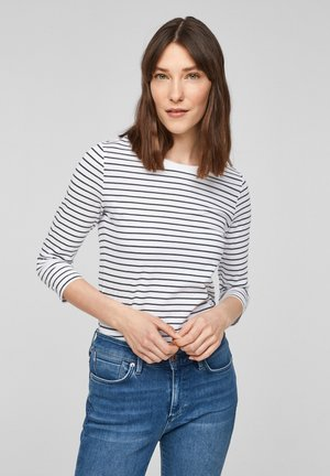 MIT RINGELMUSTER - Long sleeved top - white stripes