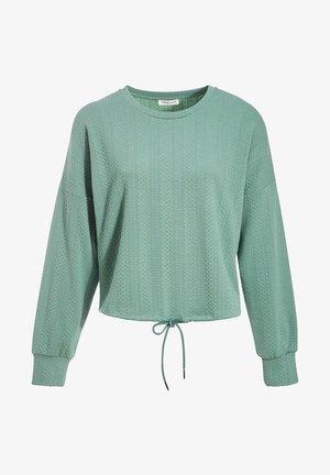 MIT TUNNELZUG IN DER TAILLE - Sweatshirt - vert clair