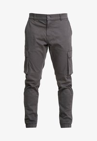 Only & Sons - ONSCAM STAGE CUFF - Cargo trousers - grey pinstripe - 4