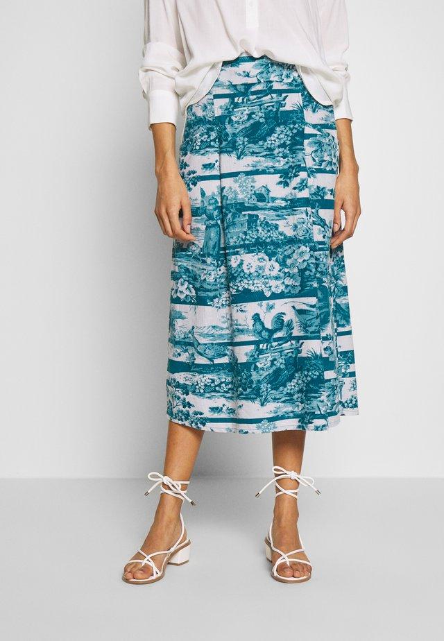 TOILE DE JOUY SKIRT - A-line skirt - lagoon blue
