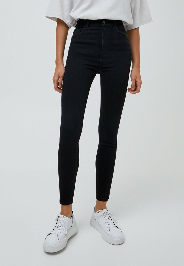 Jeansy Skinny Fit - mottled black