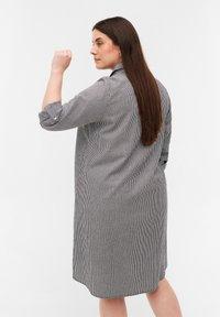 Zizzi - Day dress - black stripe - 2