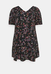 Pieces Curve - PCLALA DRESS  - Vestido informal - black - 4