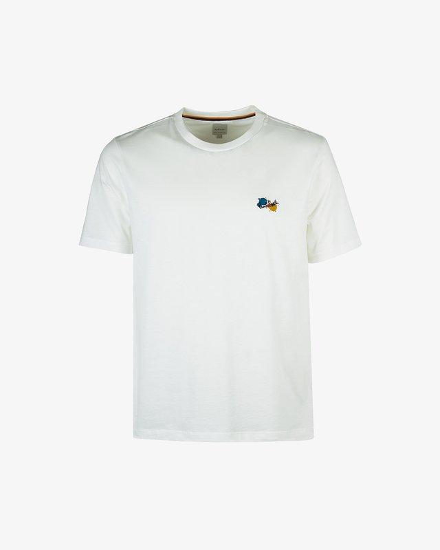 PAINT SPLATTER UNISEX - T-shirts med print - white