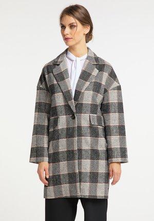 Short coat - weiß kariert