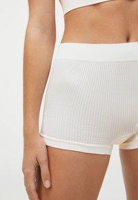 OYSHO - KNIT  - Pants - white - 3