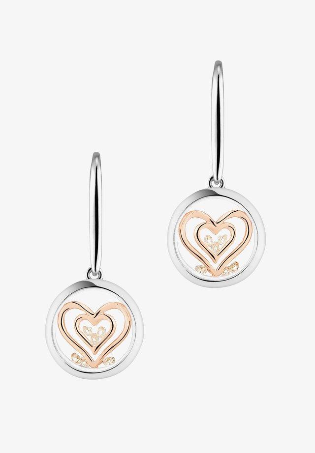 DOUBLE HEART - Øreringe - rose gold