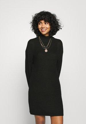 NMSIAN HIGH NECK DRESS - Jumper dress - black