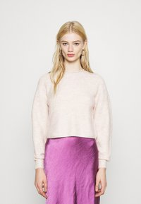 Topshop - ROLL CROP PINK - Jumper - neutral - 0