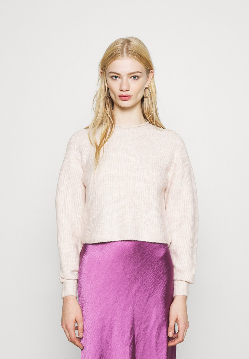 Topshop - ROLL CROP PINK - Jumper - neutral