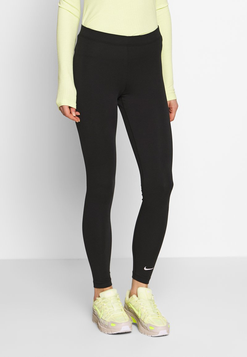 Nike Sportswear - CLUB - Leggings - black/(white)