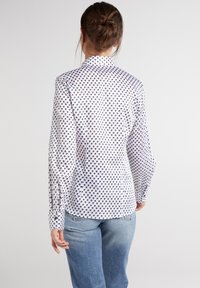Eterna - Button-down blouse - weiss/braun/blau - 1