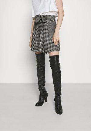 OLGA - A-line skirt - black
