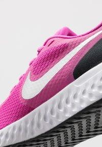 Nike Performance - REVOLUTION 5 UNISEX - Neutral running shoes - active fuchsia/metallic silver/black - 2