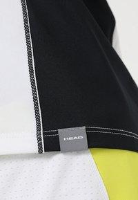Head - TALIA TANK - Linne - white/yellow - 6