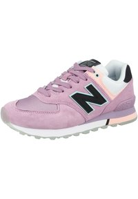 New Balance - Sneakersy niskie - canyon violet-peach soda-black (wl574saw) - 3