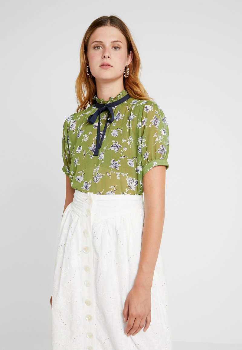 Sister Jane - BUDDING PLEATED BLOUSE SHORT SLEEVE EXCLUSIVE - Camicetta - green