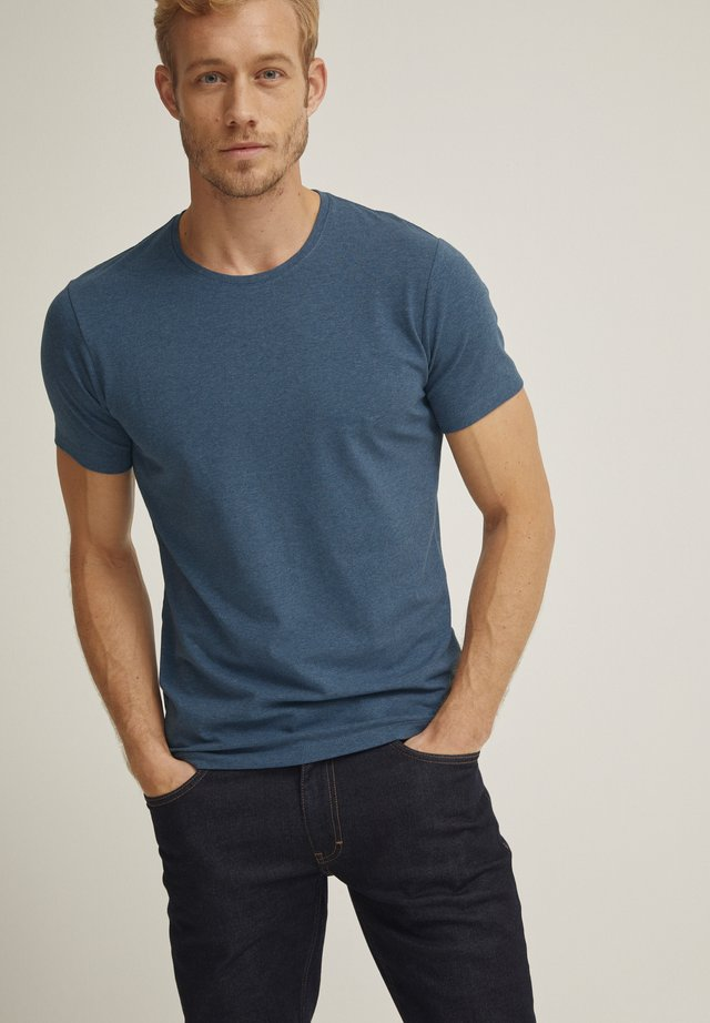 T-shirt basic - mid blue mel
