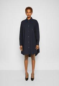 MM6 Maison Margiela - DRESS - Shirt dress - navy - 0