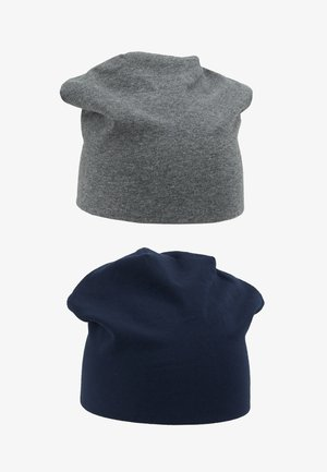 2 PACK - Beanie - grey/dark blue