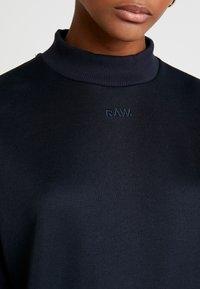 G-Star - PLEAT LOOSE COLLAR - Sweatshirts - mazarine blue - 5