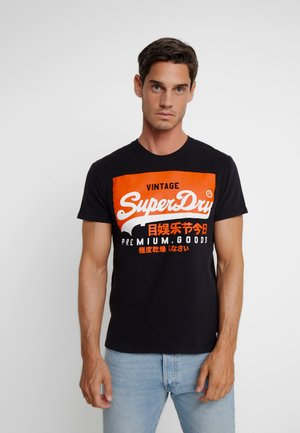 VINTAGE LOGO TEE - Print T-shirt - black