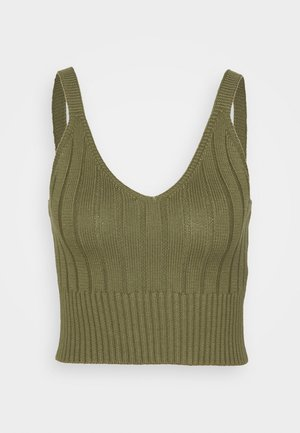 WIDE BRALET - Top - dark khaki