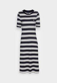 STRIPED DRESS - Jersey dress - evening blue